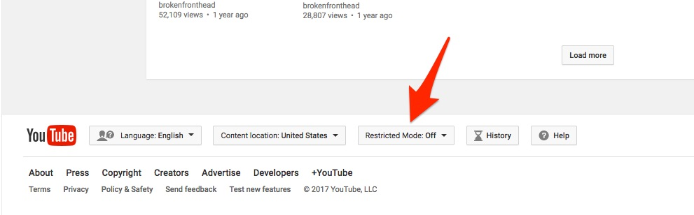 how to set filter in youtube